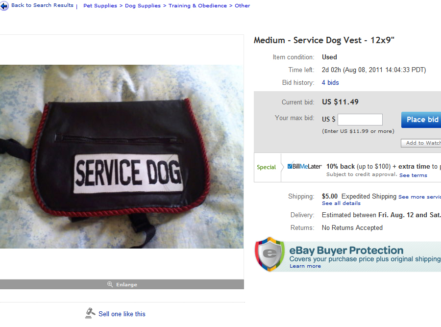 How To Make A Fake Service Dog Vest